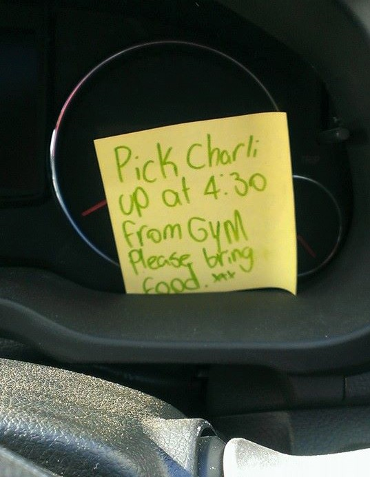 Post it note parenting